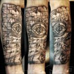 arm tattoo old map