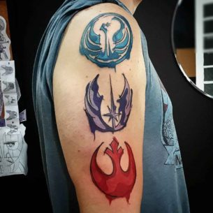 Rebel Symbol Tattoos