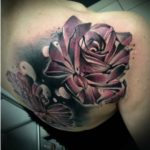 Roses Tattoo on Shoulder Blade