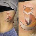 ribs tattoo fox minimalistic