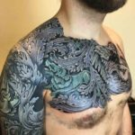 Sleeve and Chest Baroque Tattoo