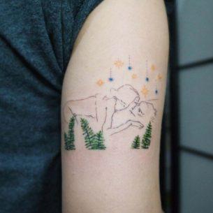 Star Night Love Tattoo