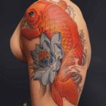 Traditional Japanese Koi Fish Tattoo