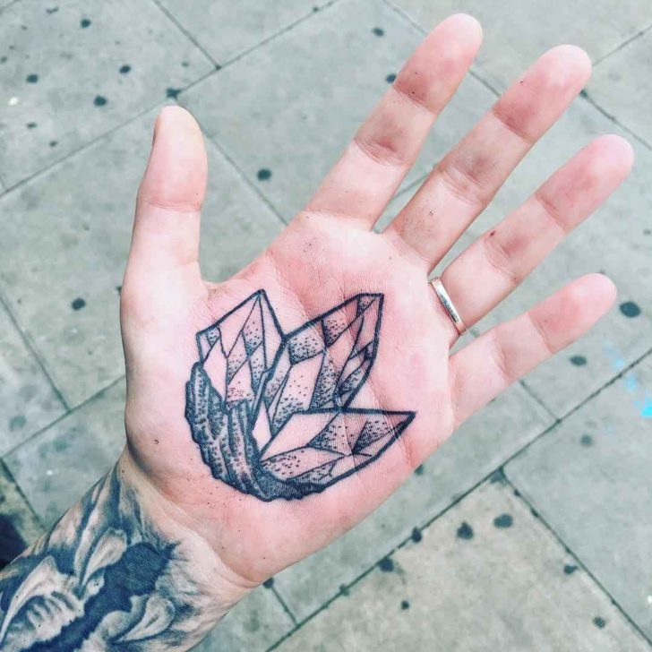 Crystal Palm Tattoo by Dean Cutabove