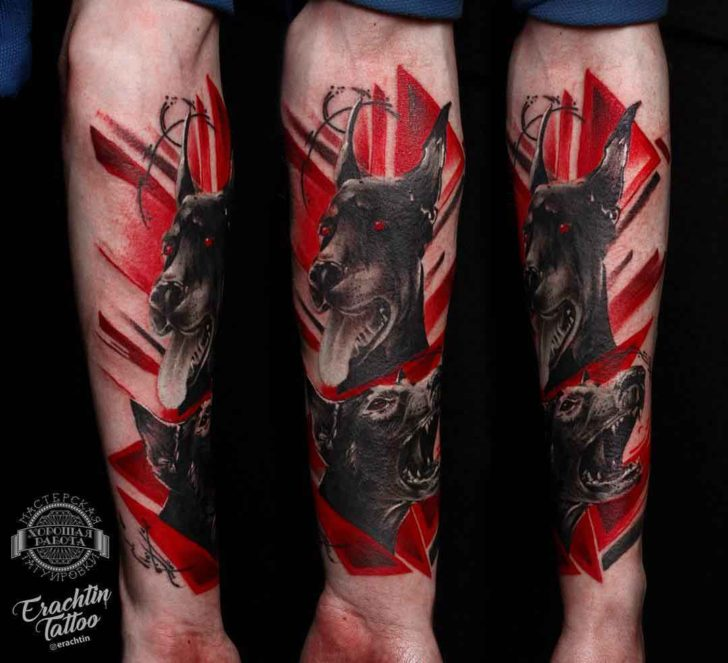 abbastanza Doberman Trash Polka Tattoo | Best Tattoo Ideas Gallery TN09