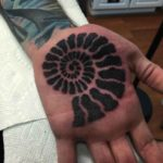 Dotwork Shell Tattoo on Palm