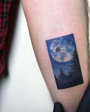 ET Tattoo Moon