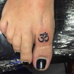 Eastern Symbol Tattoo on Toe