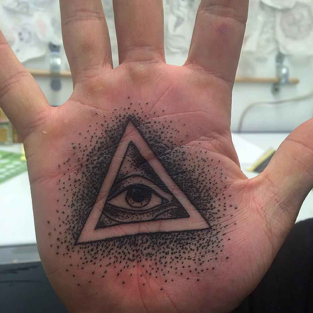 Eye Palm Tattoo by Anthony Wayne