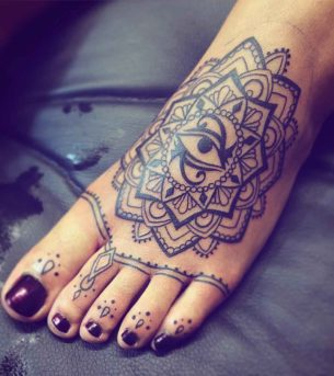 Foot and Toe Tattoos