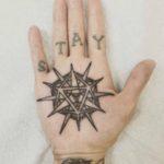 Geometric Palm Tattoo