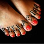 Ghost Tattoo on Toes