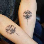 Geometrical Leaf Tattoos for Couple