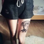 Hare Tattoo on Leg