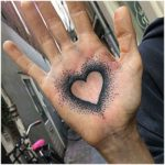 Heart Palm Tattoo