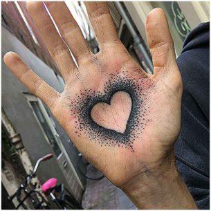 Heart Palm Tattoo