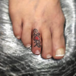Heart Toe Tattoo