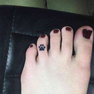 Lion Paw Print Tattoo
