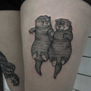 Love Tattoo Otter