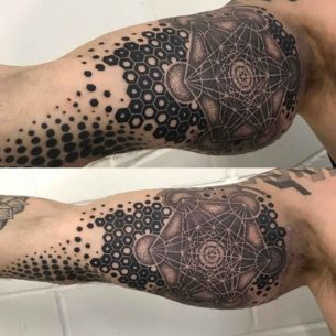 Magical Geometric Tattoo on Bicep