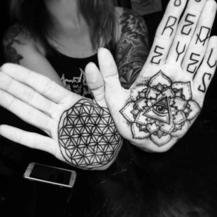 Mandala Tattoo on Palms