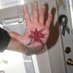 Mapple-like Palm Tattoo