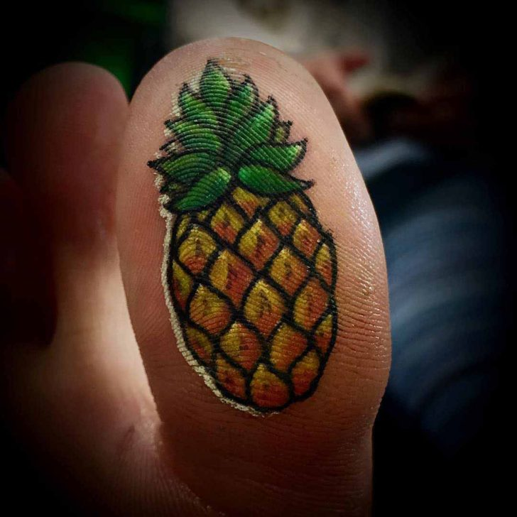 Pineapple Tattoo On Toe Bottom Danny Pacheco
