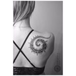 Spiral Ornament Tattoo on Shoulder Blade