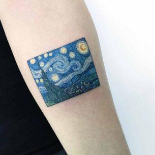 Vangogh Tattoo The Starry Night