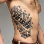 3D Piano Keyboard Tattoo