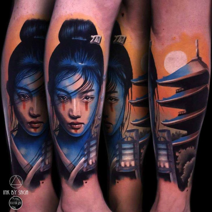 Asian Girl Tattoo