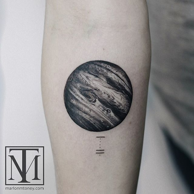 Black and Grey Jupiter Tattoo by marlonmtoney