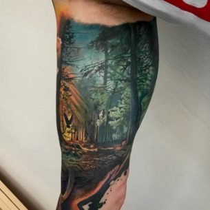 Forest Bicep Tattoo