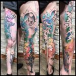 Forest Leg Tattoo Sleeve