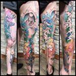 Forest Leg Tattoo Sleeve