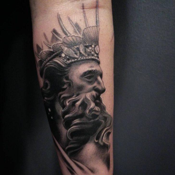 God Neptune Tattoo by malimalia