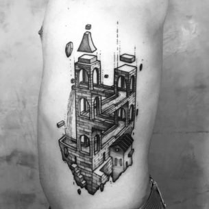 Impossible Castle Tattoo