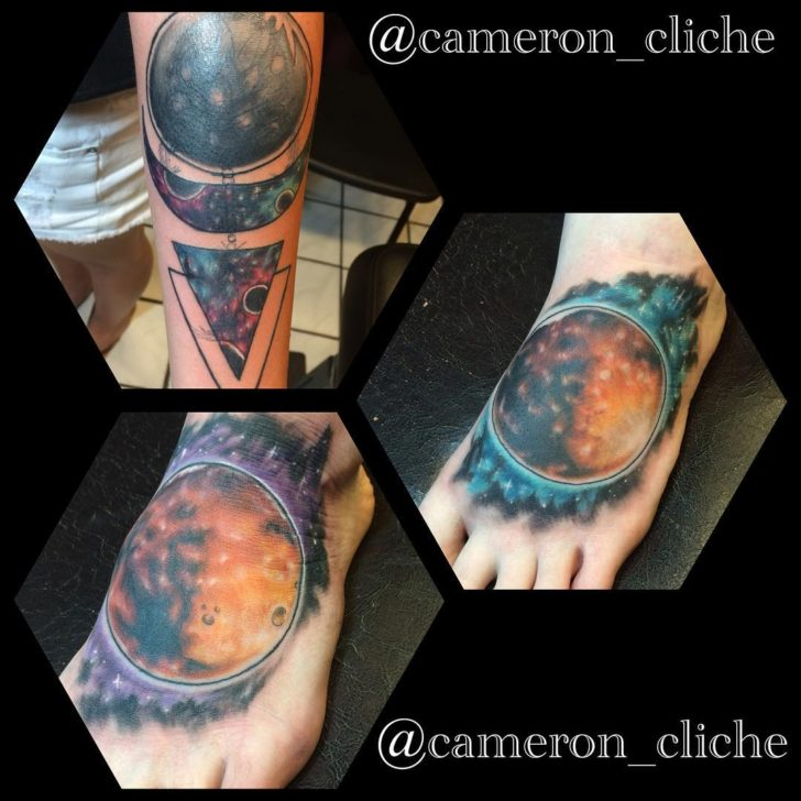 Mars Tattoo on Foot by cameron_cliche
