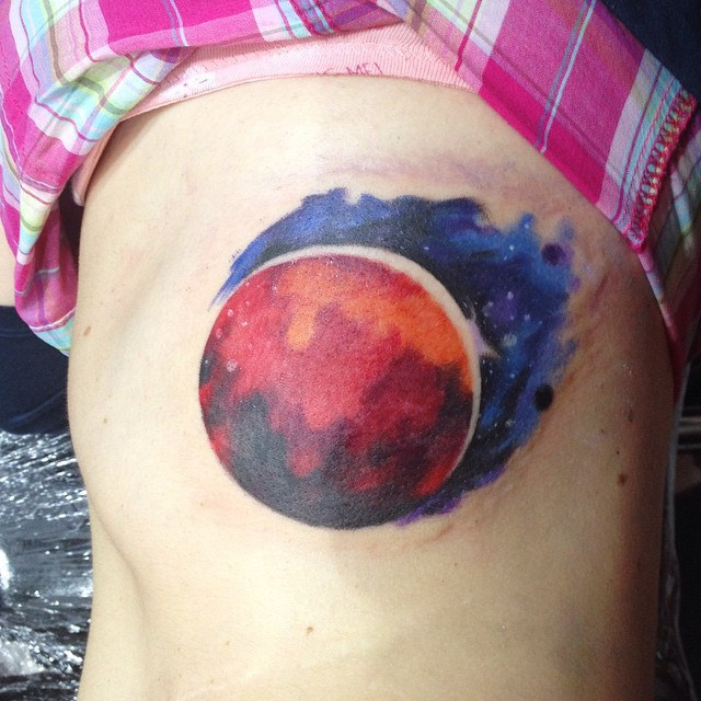 Mars Tattoo on Ribs by slonenko