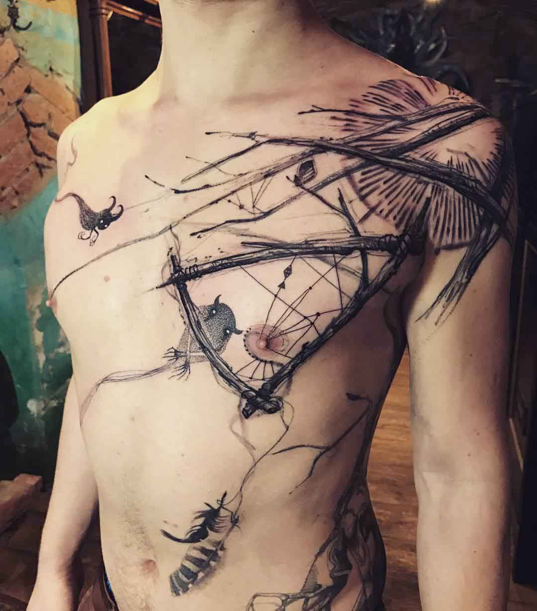 Awesome Chest Tattoo and Torso