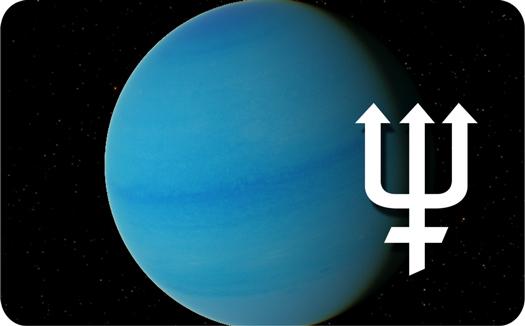 Neptune Symbol Tattoo Design