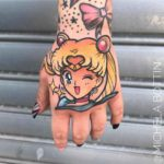 Sailor Moon Tattoo on Hand