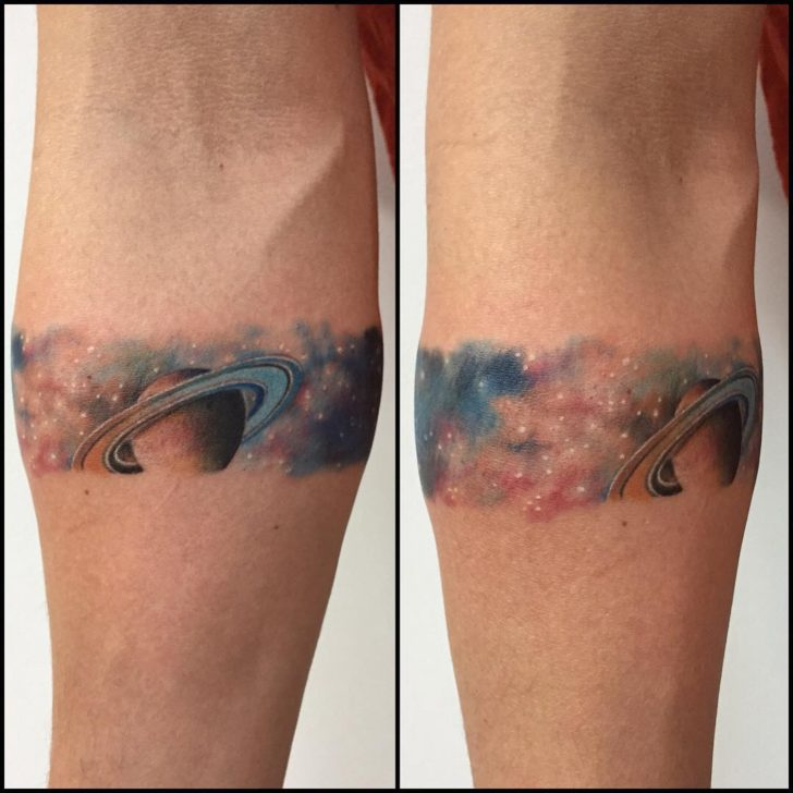 Saturn Armband Tattoo by mirodantas