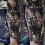 Achilles Tattoo on Arm
