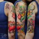 Alice in Wonderland Tattoo Half Sleeve