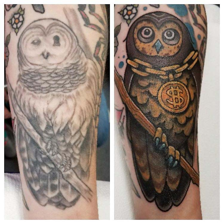 cover up tattoo owl