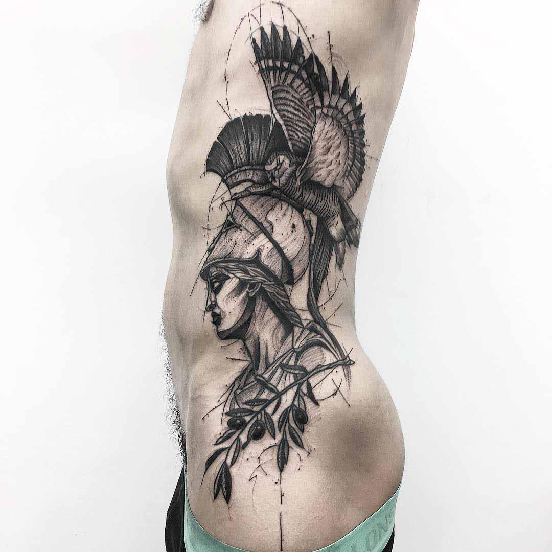 Artemis Tattoo on Side