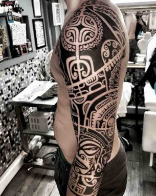 Aztec Tribal Tattoo