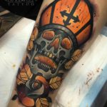 Churchman Skull Tattoo