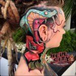 Cobra Snake Tattoo on Head
